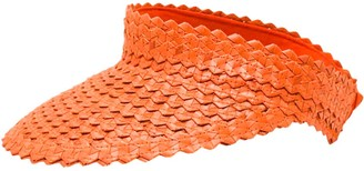 Poppy + Sage Straw Sun Visor - Orange