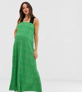 Asos DESIGN Maternity ditsy floral plisse midi dress