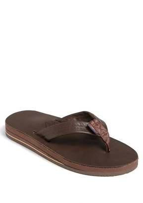 Rainbow Leather Flip Flop