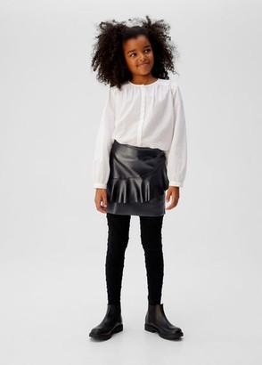 MANGO Ruffled sparkled skirt charcoal - 4-5 years - Kids