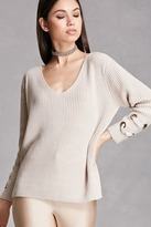 Forever 21 FOREVER 21+ Ribbed V-Neck Sweater