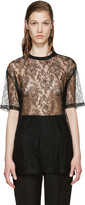 Givenchy Black Floral Lace Blouse