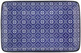 Design Studio Tokyo Nippon Blue Rectangular Plate - Flower