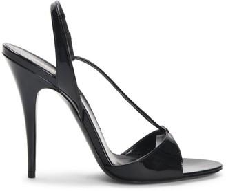 Saint Laurent Anouk Patent Leather Slingback Sandals