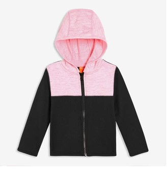 Joe Fresh Toddler Girls' Colour Block Hoodie, JF Black (Size 2)