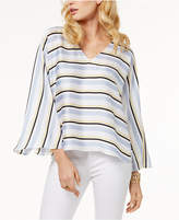 INC International Concepts I.n.c. Petite Striped Bell-Sleeve Blouse, Created for Macy's