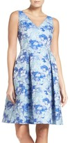 Adrianna Papell Women's Floral Fit & Flare Dress