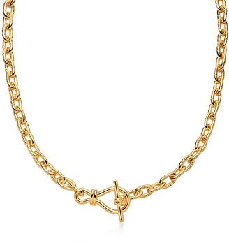 Missoma Gold Twisted Link T-Bar Chain Necklace