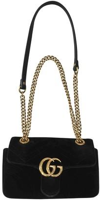 Gucci Marmont Black Velvet Handbags