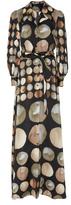 Co Printed Silk Satin Dress
