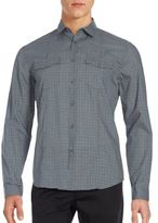 John Varvatos Checked Slim Fit Cotton Button-Down Shirt