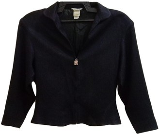 Gianni Versace Black Polyester Jackets