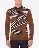 Perry Ellis Men's Ribbon Jacquard Sweater