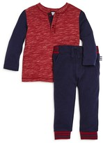 Splendid Infant Boys' Space Dyed Henley Top & Pants Set - Sizes 6-24 Months