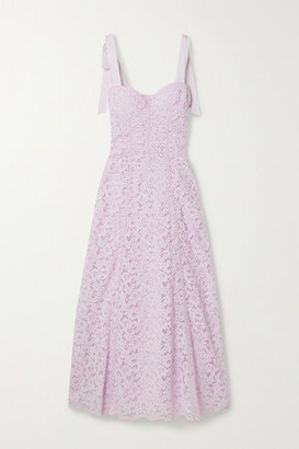 Jonathan Simkhai Grosgrain-trimmed Corded Lace Midi Dress - Lilac