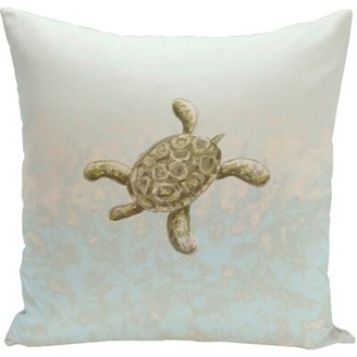 "Tortuga e by design Decorative Water Throw Pillow e by design Size: 16"" H x 16"" W"