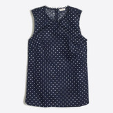 J.Crew Factory Printed corded shell
