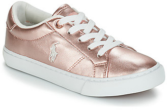Polo Ralph Lauren EDGEWOOD girls's Shoes (Trainers) in Pink