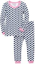 Coccoli Heart Print Pajama Set (Baby Girls)
