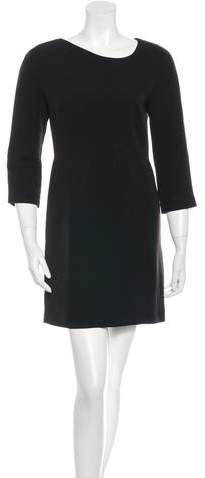 Victoria Beckham Wool-Silk Sheath Dress