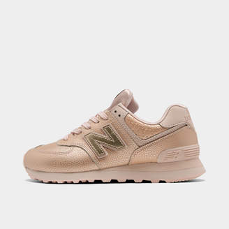 New Balance Women's 574 Worn Metallic Casual Shoes