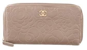 Chanel Camellia Zip-Around Wallet