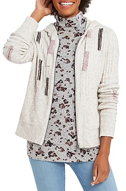 Nic+Zoe Petites Around The Block Hooded Sweater