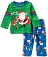 Baby Starters Baby Boys 12-24 Months Christmas Santa Top & Printed Pants Pajama Set