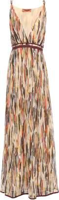 Missoni Crochet-trimmed Printed Silk-georgette Maxi Dress