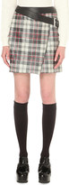 McQ by Alexander McQueen Asymmetric checked mini skirt