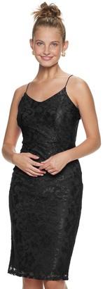 Almost Famous Juniors' Cami Lace Bodycon Midi Dress