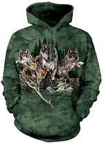 The Mountain Green Wolves Hoodie - Unisex