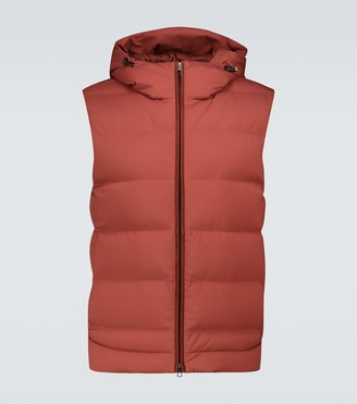 Loro Piana Down-filled nylon gilet with hood