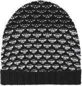 Joe Fresh Women's Pattern Chunky Knit Toque, Black (Size O/S)