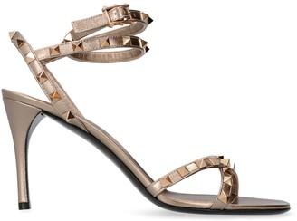 Valentino Rockstud Flair Studded Leather Sandals