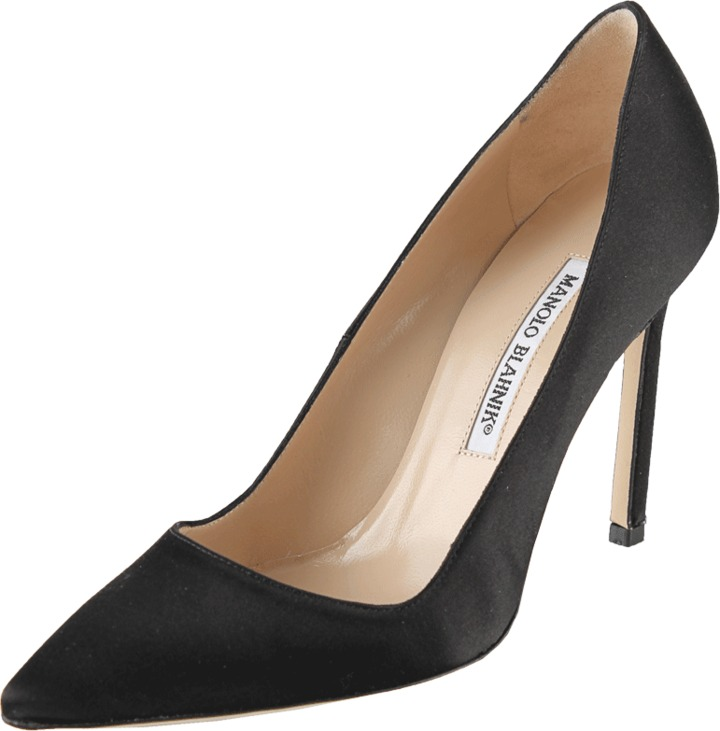 Manolo Blahnik Satin Pump