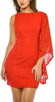 AX Paris Red Lace-Overlay Asymmetrical Dress