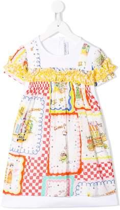 Simonetta Ruffle Trim Dress
