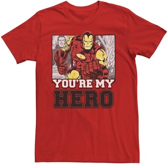 Iron Man Men's Marvel You're My Hero Short Sleeve Tee