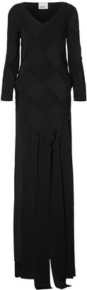 Burberry Long-sleeve Panelled Knit Gown