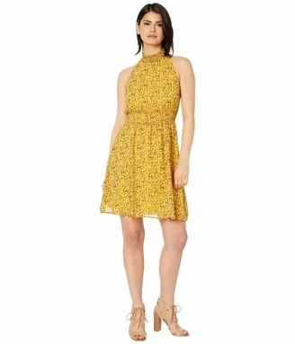 Sam Edelman Women's Sleeveless High Neck Smocked Dress