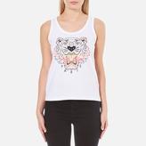 Kenzo Women's Printed Tiger On Cotton Tank Top White