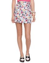 Linen Blend Floral Skirt