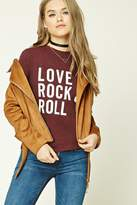 Forever 21 FOREVER 21+ Love Rock And Roll Graphic Tee