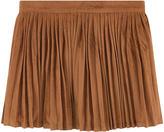 Billieblush Pleated imitation suede leather skirt