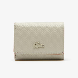 Lacoste Women's Chantaco Small Leather 4 Card Wallet