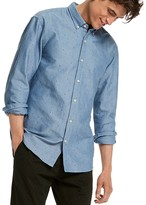 Scotch & Soda Triangle Oxford Slim Fit Button Down Shirt