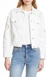 Rebecca Taylor Eyelet Detail Denim Jacket