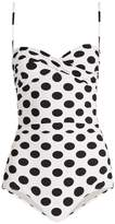 Dolce & Gabbana Twist-front polka-dot print swimsuit