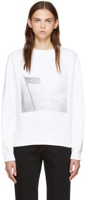 Calvin Klein White American Flag Sweatshirt